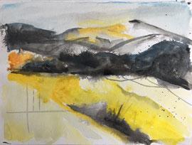 Landscape, Aquarell, 30 x 40 cm