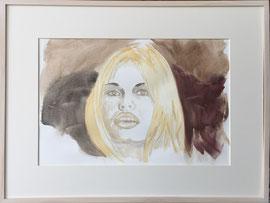 BB, Aquarell, 60 x 80 cm, mit Rahmen und PP
