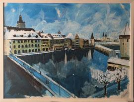 Luzern, Acryl auf Leinen, 60 x 80 cm