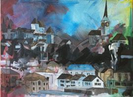 Burgdorf, Acryl auf Leinen, 80 x 100cm