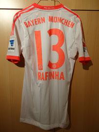12/13 Bundesliga away Spielertrikot von Rafinha hinten