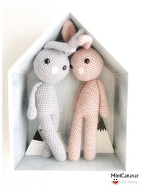 Blue & Rose Bunnies