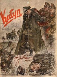 """Нацистский пропагандистский плакат «Katyn», 1943 г.   Nazi propaganda poster """"Katyn"""", 1943"""