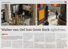 September 2018 Walter van Oel Solo Exhibition