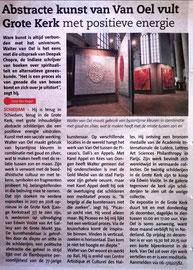 Abstracte kunst van Van Oel vult Grote Kerk met positieve energie