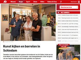 Kunst kijken en borrelen in Schiedam, Algemeen Dagblad, August 5, 2019
