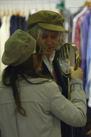 Bob Geldof shopping at the Salvation Army charity shop London UK