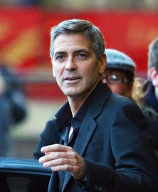 George Clooney leaving the Dorchester Hotel. London UK