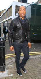 Lamar leaving a recording studio. London UK