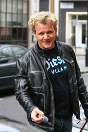 Gordon Ramsey arriving at BBC Radio 1. London UK