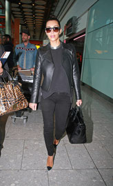 Kim Kardashian arriving in the UK