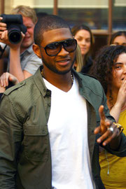 Usher at BBC Radio1. London UK