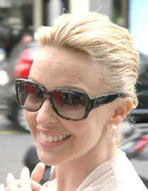 Kylie Minogue out in London UK