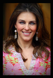 Liz Hurley promoting her bikini range. Oxford UK