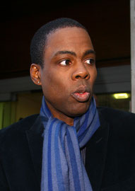 Chris Rock signing for fans. London UK