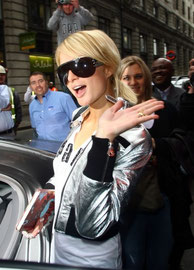 Paris Hilton in Mayfair. London UK