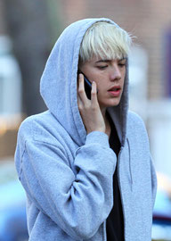 Agyness Deyn out in London UK