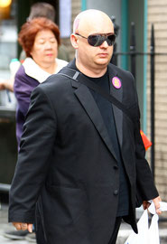 Boy George out in Soho. London UK