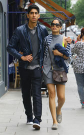 Dev Patel and Frida Pinto London UK