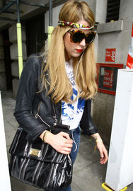 Peaches Geldof spotted out in London UK