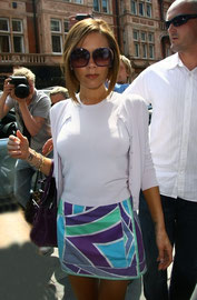 Victoria Beckham arriving at Scotts. London UK