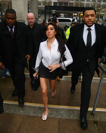 Amy Winehouse arriving at Milton Keyens Magistrates. UK
