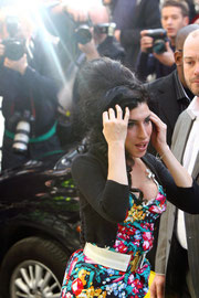 Amy Winehouse arriving at court. London UK