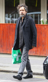 Tim Burton out in London UK