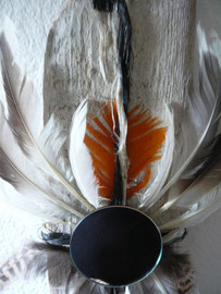 Orange Möwe- ca. 18x30 cm