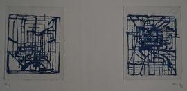 NUIT BLEUE DYPTIQUE - Philogo Artiste Plasticien
