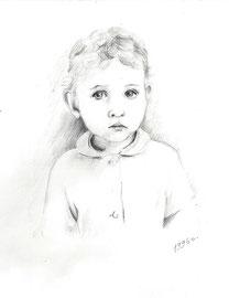 Надя. 1996. Бумага, карандаш. 12 х 9
