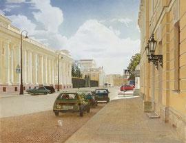 Инженерная улица. Санкт- Петербург. 2004. Холст, масло. 60 x 80