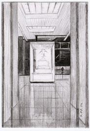 Ларец. Бумага, карандаш. Музей Отечественной войны 1812 года. 12 х 8
