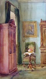 Дом-музей К.С. Станиславского. 2003. Бумага, акварель. 34 х 19