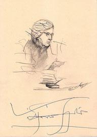 Витторио Згарби. 2018. Тонированная бумага, карандаш, гелевая ручка. В. Згарби, А. Бурденкова