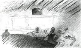 Цех Белого. 2015. Бумага, карандаш. 7 х 13. ЦСИ «Винзавод»