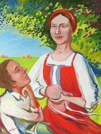Актриса Элина Мишкеева в образе Барышня-крестьянка