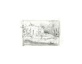 Ленинские горки. Бумага, карандаш. 5,5 х 8