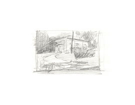 Ленинские горки. Бумага, карандаш. 5 х 8