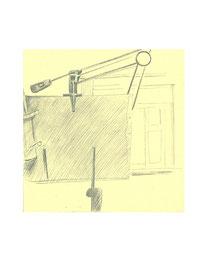 Кульман. 2009. Бумага, карандаш. 12 х 12