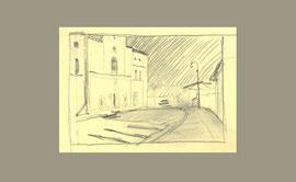 Курск. Церковь Троицы Живоначальной. 2013. Бумага, карандаш. 7 х 10