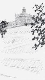 Пашков дом. 2015. Бумага, карандаш. 13 х 7