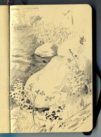 Камни. Бумага, карандаш. 14 х 9