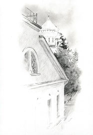 Храм Христа Спасителя. 2014. Бумага, карандаш. 32 х 24