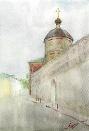 Высоко-Петровский монастырь. 2015. Бумага, акварель. 23 х 16