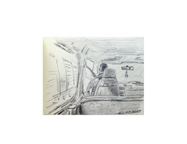 Бумага, графитный карандаш. 6 х 9