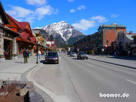 "banff downtown CANADA   ""4 wheels move the body, 2 wheels move the soul"""