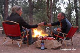 Wein & Lagerfeuer - was will man mehr?
