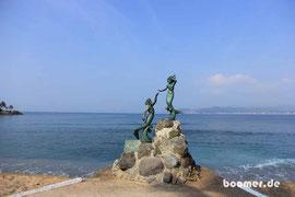 die beschauliche Strandpromenade von Barra de Navidad