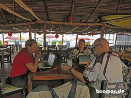 unser Büro im Strand-Restaurant